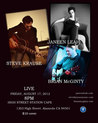 Steve Krause Brian McGinty and Janeen Leah at High Street Station Cafe